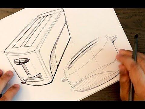 Industrial Design Sketching - BiC Pen (messy) Toasters!