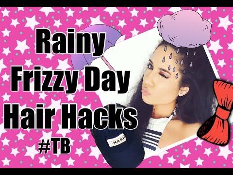 FRIZZY  RAINY DAY HAIR STYLE HACKS TB    LEXI NOEL