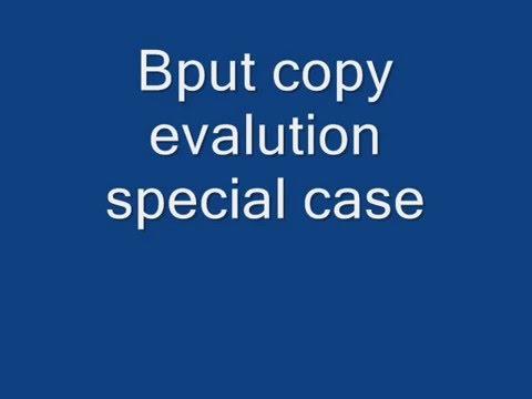 bput exam copy special case