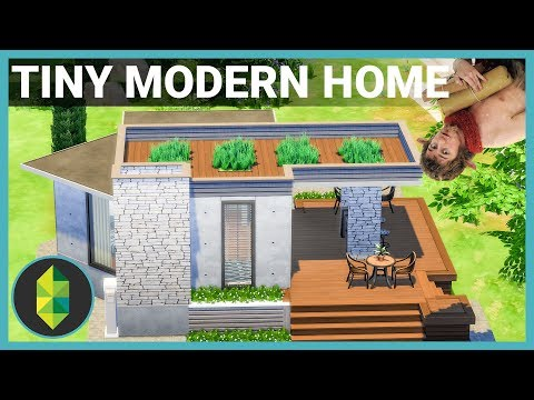 TINY MODERN HOME (Inverse Narnia) - The Sims 4 House Build
