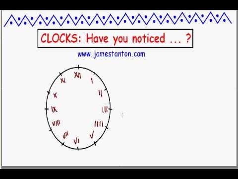 Clocks: Have you ever noticed ... ?? (Tanton Mathematics)