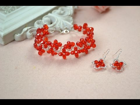 How to Make Red Handmade Jewelry Sets with Crystals