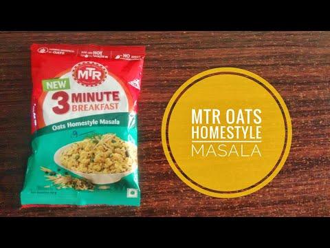 MTR 3 minutes breakfast oats homestyle masala | how to make mtr oats homestyle masala |