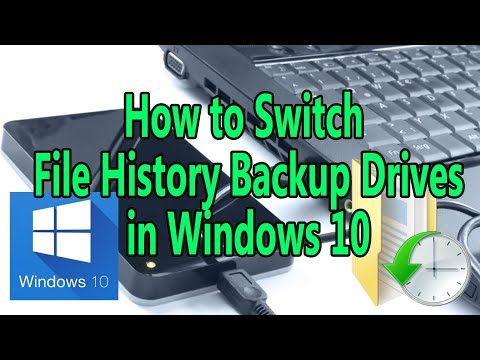How to Switch File History Backup Drives in Windows 10