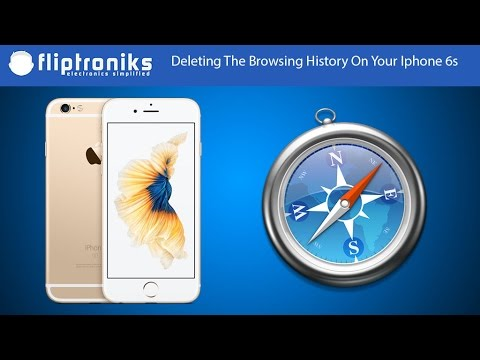 Apple Iphone 6s: How To Delete Internet Browsing History - Fliptroniks.com