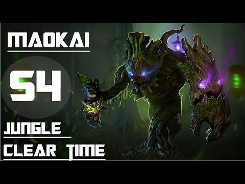 League of Legends - Maokai Jungle clear time test (S4)