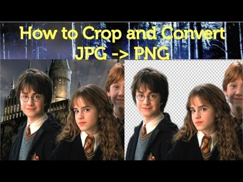 How to Remove Background, Crop & Convert a JPG image to PNG image | Tutorial