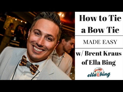 How to Tie a Bow Tie Made EASY!