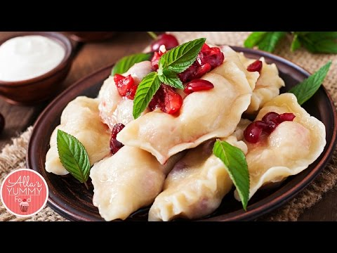 Pierogi with Cherries Recipe (Vareniki) | Вареники с вишней