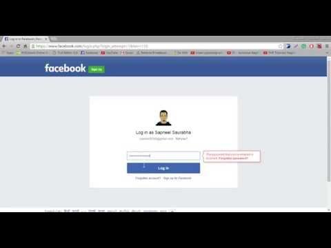 How to show hide password of facebook