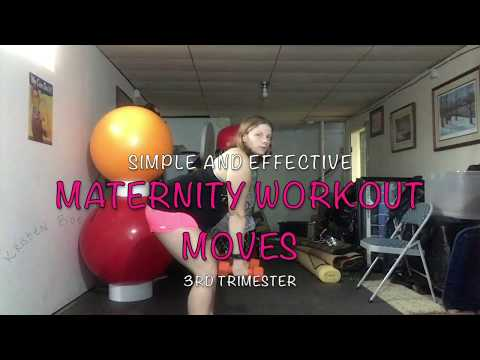 Simple and Effective 3rd Trimester Maternity Pregnancy Workout Moves 2/8