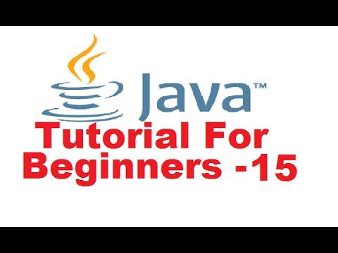 Java Tutorial For Beginners 15 - Java String