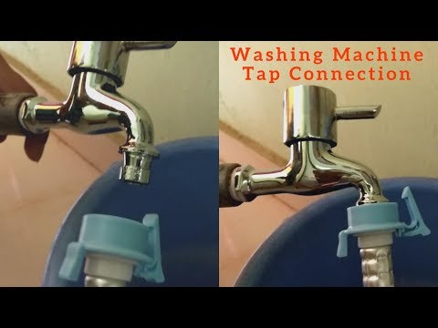 Washing Machine Tap Connection from Tank Using Tube demonstration