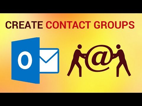 How to Create Contact Groups in Outlook 2016