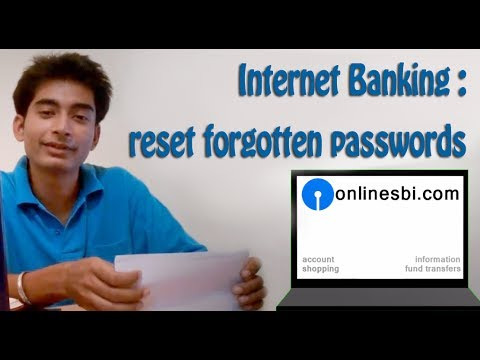 SBI online banking (Part 4): Forgot login and profile password