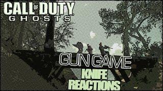 COD Ghosts - Gun Game Knifing Rage Reactions!