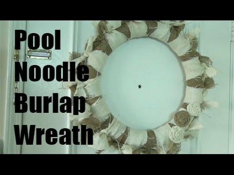 Fall Pool Noodle Wreath