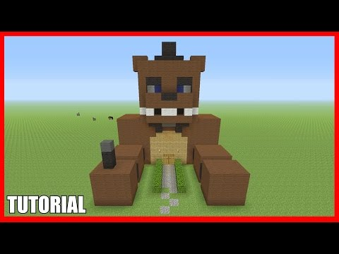 Minecraft Tutorial: How To Make A Freddy Fazbear / FNAF Survival House (ASH#28)