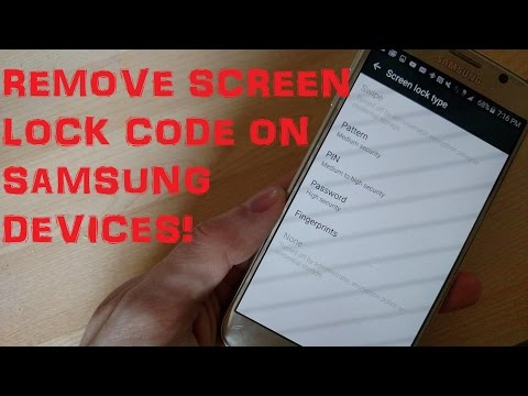 Disable Bypass Remove Screen Lock Code Without Deleting Data On Samsung Devices!