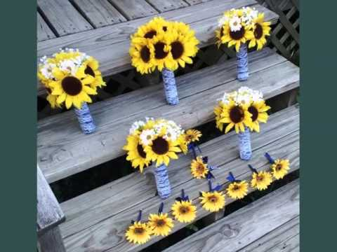 Corsage Sunflower Picture Ideas For Wedding | Corsage Sunflower Romance