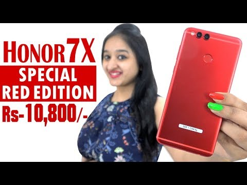 Honor 7x LIMITED RED EDITION Unboxing & Overview in Hindi