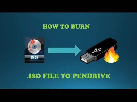 HOW TO BURN .ISO FILE TO PEN DRIVE USING SOFTWARE