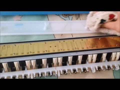 Yamaha P32D Pianica - Reed gapping to fix unresponsive keys.