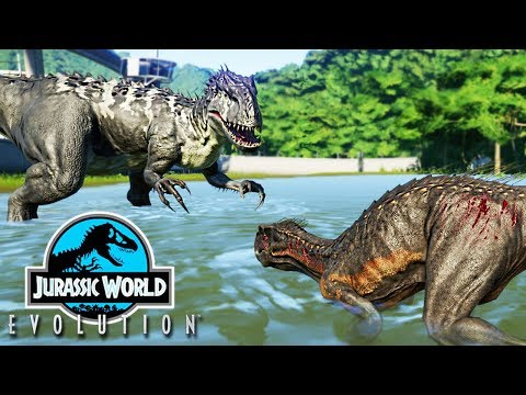 JURASSIC WORLD EVOLUTION #12 = INDORAPTOR VS INDOMINUS REX MODIFICADO