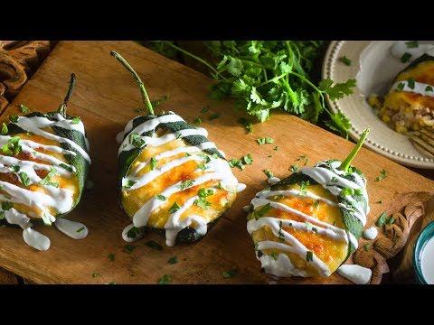 Rotisserie Chicken Stuffed Poblano Pepper