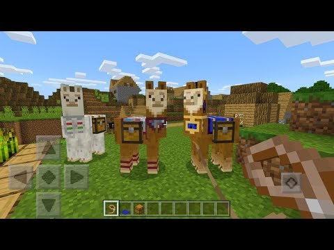 How To Tame, Ride, and Control Llamas in Minecraft Pocket Edition