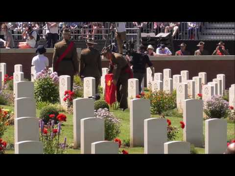 Fromelles Commemorative Service and Headstone Dedication Pheasant Wood 19 July 2016