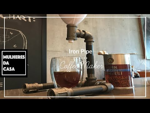 Iron Pipe Coffee Maker /  Coffee Maker Made Out of Iron Pipes