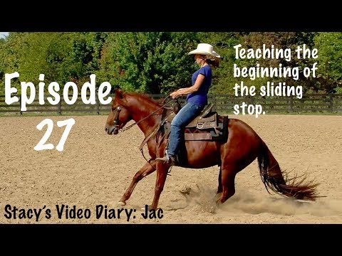 Stacy's Video Diary:Jac- Episode 27-Teaching the beginning of the sliding stop.