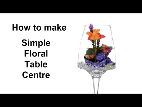 Simple Floral Table Centre in Glass Vase - simple, easy to make -