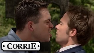 Todd & David Fight At Kylie's Funeral - Coronation Street