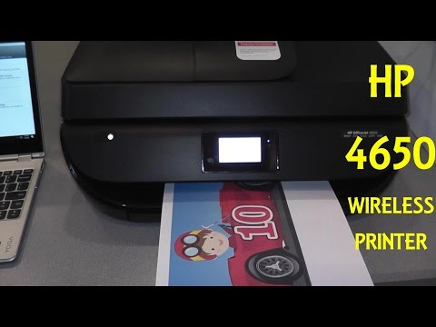 HP 4650 Wireless Printer Unboxing and Setup