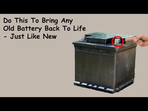 Car Battery Repair - How to Restore a Dead Car Battery