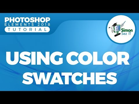 How to Use Color Swatches in Adobe Photoshop Elements 2018