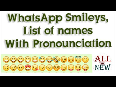 WhatsApp 2018 New Smiley With Meaning