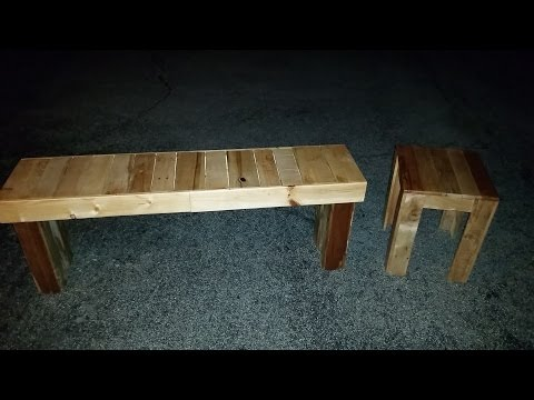 How to Build An End Table & Bench From Pallets (2016 STERLING DAVIS UP CYCLE /PALLET CHALLENGE)