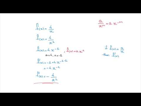 Power Rule for Differentiation - Tutorial 2