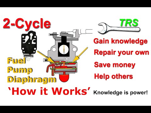 Fuel Pump Diaphragm, HOW IT WORKS, on Two Stroke Cycle Carburetor