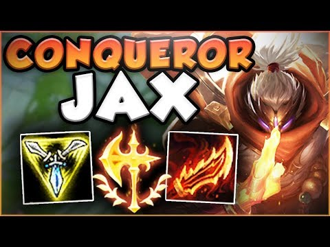 NEW CONQUEROR RUNE + NEW RAGEBLADE = ONE OP JAX! JAX SEASON 8 TOP GAMEPLAY! - League of Legends