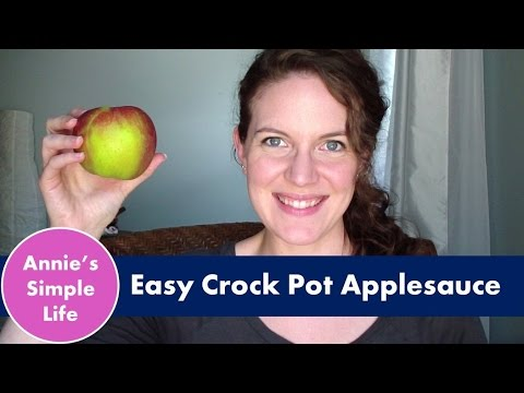 Easy Crock Pot Applesauce