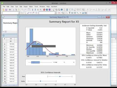 Minitab - Video 10 - Testing the Normality Assumption