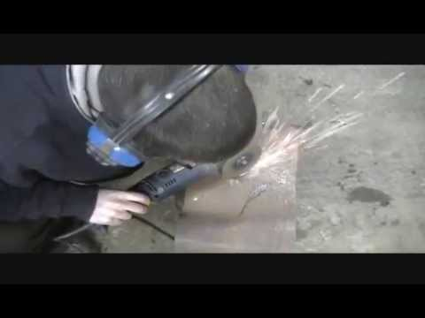 Cut a round hole with an Angle Grinder