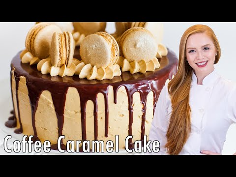 Coffee Caramel Cake with Chocolate Ganache