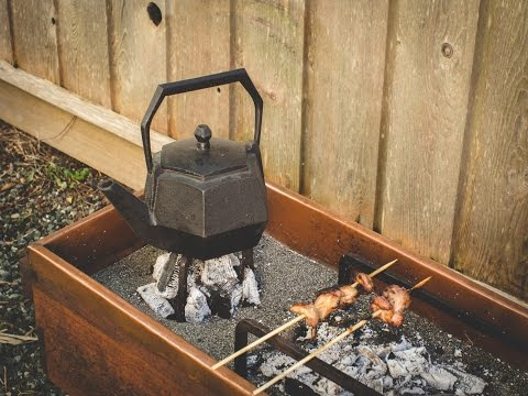Edo Style Hibachi and fire tools - Japanese Charcoal Barbeque & Tea
