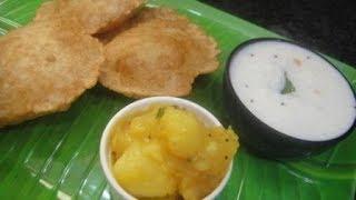 Poori Masala And Curd Rice In Tamil   Lunch Box Recipe   Cooking Tips In Tamil   Gowri Samayalarai