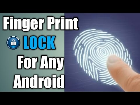 How to set Finger Print LOCK for all android mobiles new 2017 [ Hindi ]